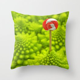 Romanesco Lollipop Throw Pillow
