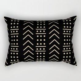 Mudcloth Black II Rectangular Pillow