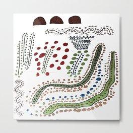 Dot the land of snake and rocks Metal Print
