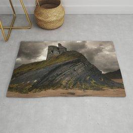Forgotten castle in western Ireland Rug