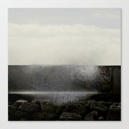 The ocean behind the wall Canvas Print