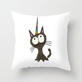 KittyCorn Throw Pillow