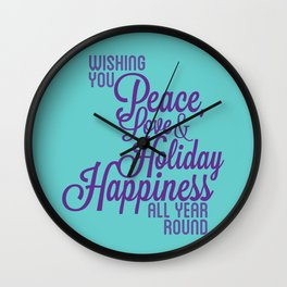 Year Round Holiday Happiness Wall Clock