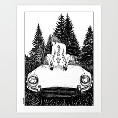 asc 326 - La halte dans la tourbière (The break in the bog) Art Print