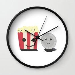 Cinema movie pocorn with faces Wall Clock