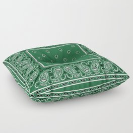 Classic Green Bandana Floor Pillow