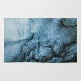 Storm Abstract   Sea   Waves   Ocean   Blue Art   Beauty   Nature Painting Rug