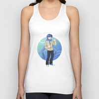 vocaloid Tank Tops featuring Kaito - VOCALOID Gakuen by Tenki Incorporated