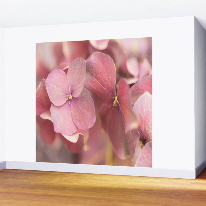 Hortensia Flower Pink Hydrangea #decor #society6 Wall Mural