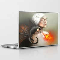 mother of dragons Laptop & iPad Skins featuring mother of dragons  by KazuneKoi