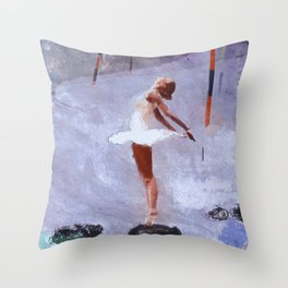 A Warm Dance On A Cold Rock Throw Pillow