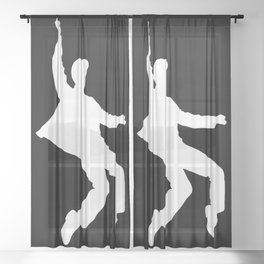 White Elvis Sheer Curtain