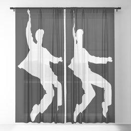 White Elvis Sheer Curtain