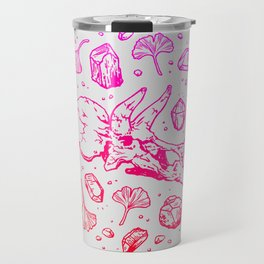 Triceratops Rocks! | Fiery Pink Ombré Travel Mug