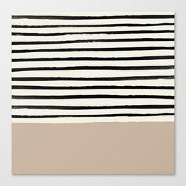 Latte & Stripes Canvas Print