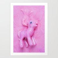 pony Art Prints featuring Pony  by Laurence Philomene