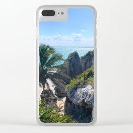 Las Ruinas Tulum Clear iPhone Case