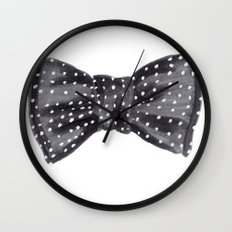 Dotted Bow Wall Clock