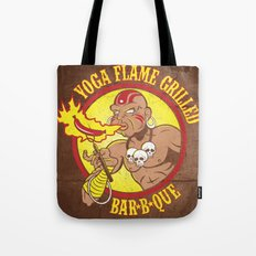 Yoga Flame Grilled BBQ Tote Bag