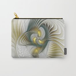 Noble And Golden, Abstract Modern Fractal Art Carry-All Pouch