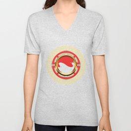 Yin Yang Mandala Harmony Chinese Philosophy Gift Unisex V-Neck