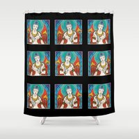 buddhism Shower Curtains featuring Buddhism by Panda Cool