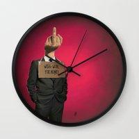 unicorn Wall Clocks featuring Unicorn by rob art | illustration
