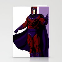 magneto Stationery Cards featuring Magneto by Andrew Formosa