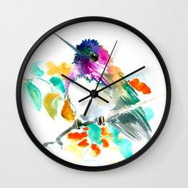 Cute Little Hummingbird Wall Clock
