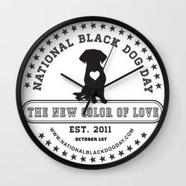Black Dog Day Official Logo Wall Clock