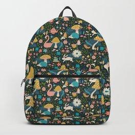 Wondering in Wonderland - Blue + Gold Backpack