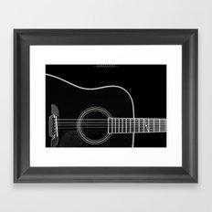 Guitar BW Framed Art Print