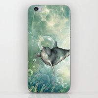 dolphin iPhone & iPod Skins featuring Dolphin by nicky2342