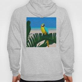 Parrot Tropical Banana Leaves Design Hoody