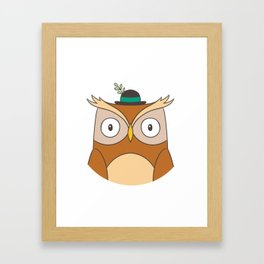 Cartoon Abstract Owl Framed Art Print