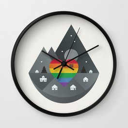 Love & Equality Wall Clock