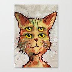 Four Eyed Cat Canvas Print