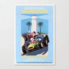 1990 Grand Bahama Grand Prix Racing Poster Canvas Print