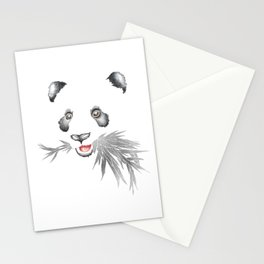 Panda Bear & Bamboo - Silver Bamboo Stationery Cards