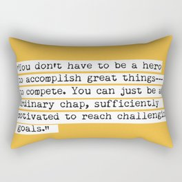 Edmund Hillary quote Rectangular Pillow