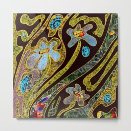 flowers and swirls Metal Print