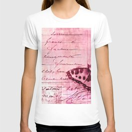 pink postage T-shirt