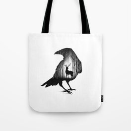 THE RAVEN AND THE DEER Tote Bag