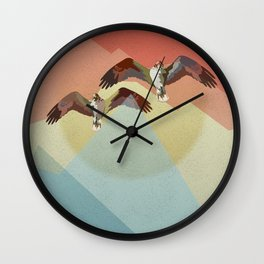 Two flying eagles Wall Clock