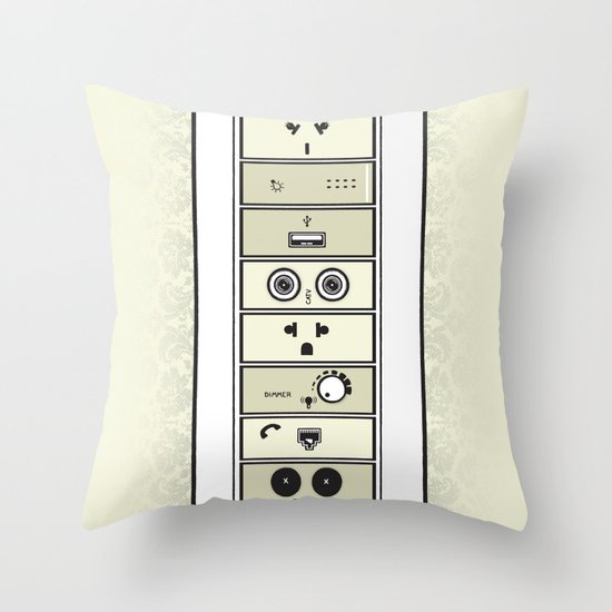 Mysterious Plugs Throw Pillow