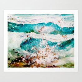 Abstract Waves Splatter Art Print