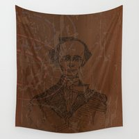 wes anderson Wall Tapestries featuring Hans Christian Anderson by Hazel Bellhop