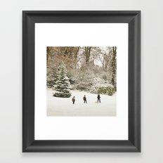 Christmas happiness Framed Art Print