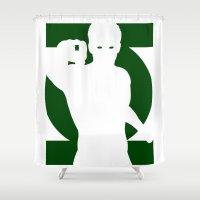 green lantern Shower Curtains featuring Green Lantern by Maxvtis