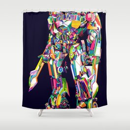 Transformer in pop art Shower Curtain